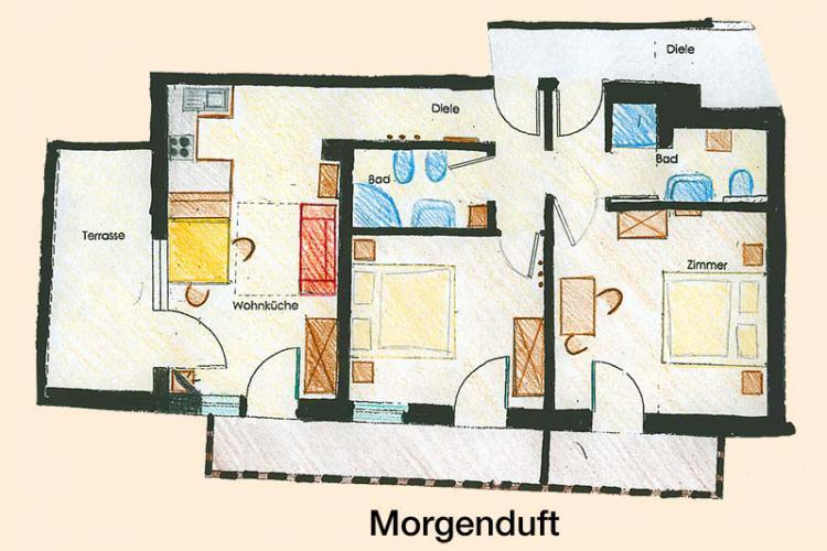 Sketch apartment Morgenduft
