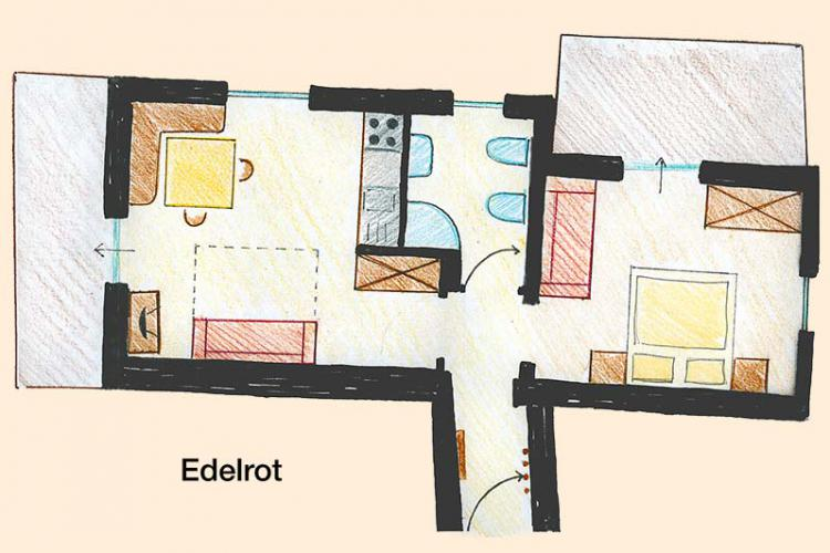 Sketch apartment Edelrot